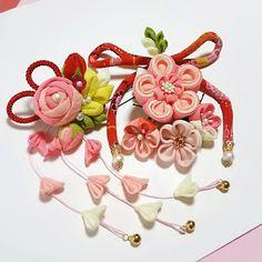 ばらの花かみ飾り2wayクリップ8点セット