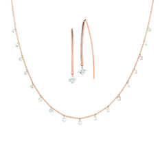 9a91c7a93 14kt laser drilled diamond necklace and earrings. Debbie Brooks, Key Jewelry,  Diamond Jewelry