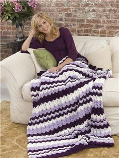 Caron® Twilight Afghan