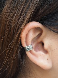 Elephant Ear Cuff Sterling Silver 925 ear cuff non pierced | Bohemian Ear Cuff Jewelry | Tribal style | Oxidized Silver