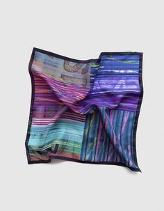 Original pañuelo de bolsillo en tonos violeta y morado | Viva La Woolf