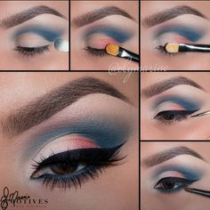 Blue Cut Crease More from my site eyeshadow for blue eyes – makeup look for blue eyes – blue eyeshadow – stunning … Gorgeous pink purple and blue cut crease shadow with blended out Smokey eye make… Makeup Looks Eye Makeup Tips, Makeup Goals, Makeup Kit, Makeup Inspo, Eyeshadow Makeup, Makeup Inspiration, Hair Makeup, Makeup Ideas, Eyeshadow Palette