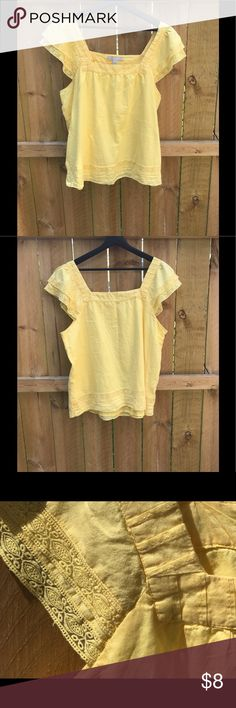 Old Navy yellow embroidered top yellow embroidered top from Old Navy. Very light Old Navy Tops