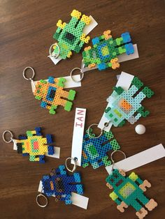 Perler bead robot keychain a for party favors.