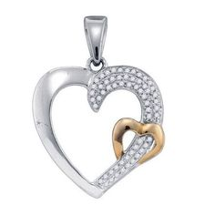 1/6CT-Diamond MICRO-PAVE HEART PENDANT