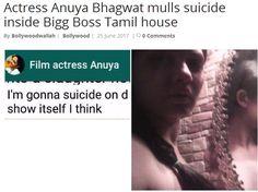 Actress Anuya Bhagwat mulls suicide inside Bigg Boss Tamil house http://bollywoodwallah.com/2017/06/25/actress-anuya-bhagwat-mulls-suicide-inside-bigg-boss-tamil-house/