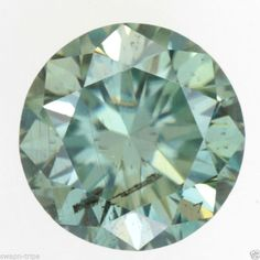 GREENISH COLOR MOISSANITE I1 CLARITY JEWELRY 0.53 CT GEMSTONE LOOSE ROUND SHAPE