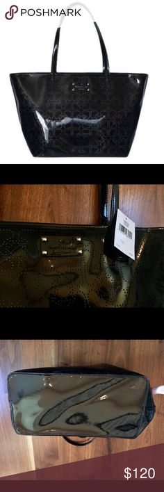 """Kate Spade METRO Small Harmony Black Tote Bag NWT Kate Spade METRO Small Harmony Black Tote Bag NWT. This item has original tags and shows no visible signs of wear. 17""""L x 10""""H x 6""""W. Zipper closure. From a non-smoking and pet free posher. kate spade Bags Totes"""