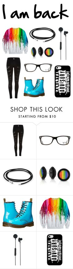 """""""I AM BACK"""" by sup-its-alex-peace ❤ liked on Polyvore featuring River Island, Ray-Ban, Bling Jewelry, Dr. Martens and I.Am+ Eps"""