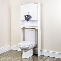 White bathroom storage unit. http://abreo.co.uk/