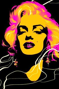 y Marilyn Monroe Pop Art . Pop Art Marilyn Monroe, Marilyn Monroe Dibujo, Marilyn Monroe Painting, Marilyn Monroe Photos, Cuadros Pop Art, Pop Art Pictures, Gravure Illustration, Pop Art Drawing, Candle In The Wind