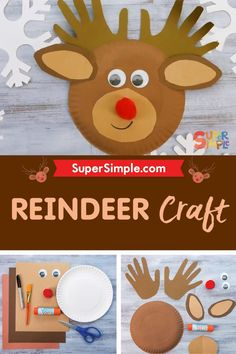 Make a friendly reindeer craft out of a paper plate!