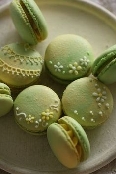 Piping on macaroon... Hmm maybe here is where I can incorporate dragon flies for Mia's birthday