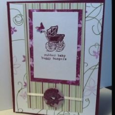 Stampin up baby card by stacey