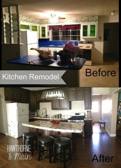 Kitchen Remodel with before and after pics- hawthorneandmain.com