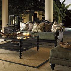 Royal Kahala Turtle Bay Exposed Wood Sofa by Tommy Bahama Home - Baer's Furniture - Sofa Miami, Ft. Lauderdale, Orlando, Sarasota, Naples, Ft. Myers, Florida