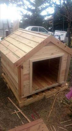 Pallets Wood Dog House | Pallet Furniture DIY