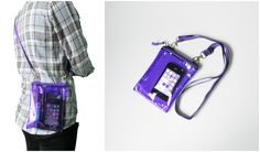 Small Neon Purple Clear Transparent Iphone Crossbody Bag   Please visit us at www.etsy.com/shop/Trixiesky   to see more of our wonderful products.