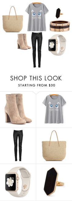 """""""Rock Kitten"""" by anoly226 ❤ liked on Polyvore featuring Gianvito Rossi, Balmain, Target, Jaeger and Cartier"""
