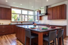 kitchen with center island in this denver remodel more eat in kitchen