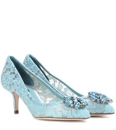 af331b70d4eae7 Dolce   Gabbana - Bellucci embellished lace pumps - These beautiful Dolce    Gabbana pumps are