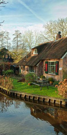 In Giethoorn, Netherlands,.