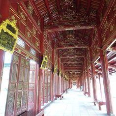 Hallway in the citadel Hue. #travel #travelbloggers #hue #palace #ancientcity #vietnam