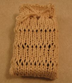 Knit a Simple Sack to Hold Your Soap