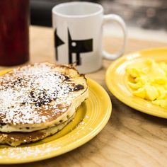 Wake up to a fluffy stack of Pancakes to help you get over the hump! #breakfast #knoxville #alldaybreakfast