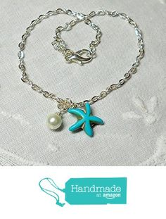 Beach Wedding Jewelry, Beach Jewelry, Sea Glass Jewelry, Aqua Wedding, Beach Anklets, Blue Necklace, Ankle Bracelets, Turquoise Jewelry, Starfish