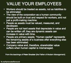 ...from the teachings of Peter Drucker