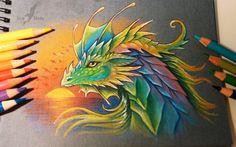 Prismatic dragon #dragon #fantasy #art #alviaalcedo