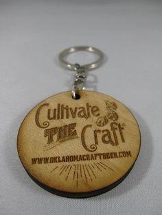 Beer Is OK Cultivate the Craft Keychain #oklahoma #craftbeer #beer #wood #madeinoklahoma