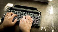 Kickstarter Success Typewriter-Inspired Wireless Mechanical Keyboard with Integrated Tablet Stand and Macro Programmable Return Bar