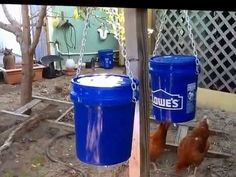 Bucket Chicken Waterer Made From A 5 Gallon Bucket With