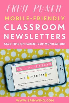 Teachers, are you looking for a new classroom newsletter to match your pineapple-themed classroom? These mobile-friendly classroom newsletters and quick to set up, and parents love them! Watch the free tutorial to learn more. Classroom Hacks, 5th Grade Classroom, Classroom Bulletin Boards, New Classroom, Classroom Themes, Seasonal Classrooms, Apps For Teachers, Parents As Teachers, Classroom Newsletter Template