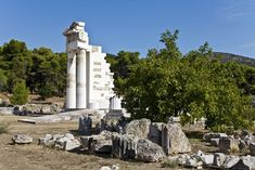 Sanctuary of Asklepios at Epidaurus, Peloponnese, Greece Ancient Greek Architecture, Greek Culture, Ancient Beauty, Archaeological Site, Ancient Greece, World Heritage Sites, Archaeology, Places To See, Stock Photos