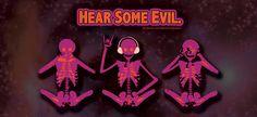 Hear some evil. # Delirament #Designs #Skulls #Graphic #Design #Music #Rock facebook.com/deliramentdesigns