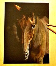 Pastels du beau Swing  Pastel sur feuille 24x32cm Pastels, Creations, Horses, Animals, Horse, Paint, Drawing Drawing, Animales, Animaux
