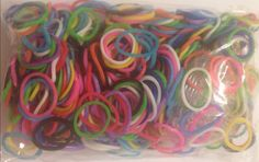Rainbow loom refill rubber bands for bracelets by PokenFun on Etsy, $3.99
