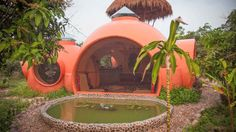Thai Dome Home by Steve Areen « Inhabitat – Green Design, Innovation, Architecture, Green Building Earthship, Inexpensive Home Decor, Cheap Home Decor, Architecture Organique, Dome House, Unusual Homes, Building A House, Green Building, Beautiful Homes