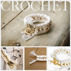 DIY Crochet Bracelet by @Cathy Attix on @Bonbon Break