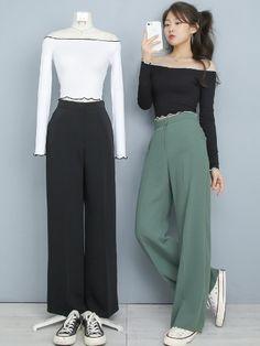 Korean Girl Fashion, Korean Fashion Trends, Ulzzang Fashion, Asian Fashion, Look Fashion, Kpop Fashion Outfits, Edgy Outfits, Korean Outfits, Pretty Outfits