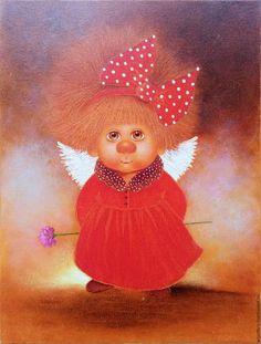 Люди, ручной работы. Ярмарка Мастеров - ручная работа. Купить Ангел Любви. Картина маслом. Handmade. Ангел, Ангел хранитель
