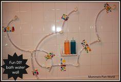 Momma's Fun World: Make your own bath water wall