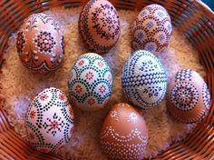 Sorbische Ostereier - Sorbian Easter Eggs -- die Muster (nicht die Farben)