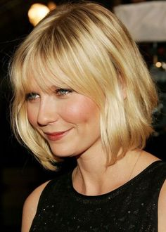 Top 100 Hairstyles for Round Faces | herinterest.com more bangs