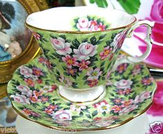 Royal Albert Chintz Garden Party Pattern Tea Cup and Saucer