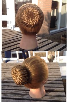 Made by me, cutegirlshairstyles, Rope-Twisted Pinwheel Bun