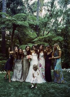 20 Mismatched Bridesmaid Dresses for Your Modern Wedding via Brit + Co. I love this idea.  I wish I had thought of it!